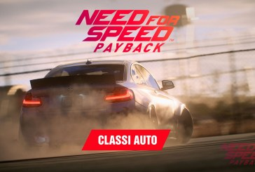 Need for Speed Payback: classi auto