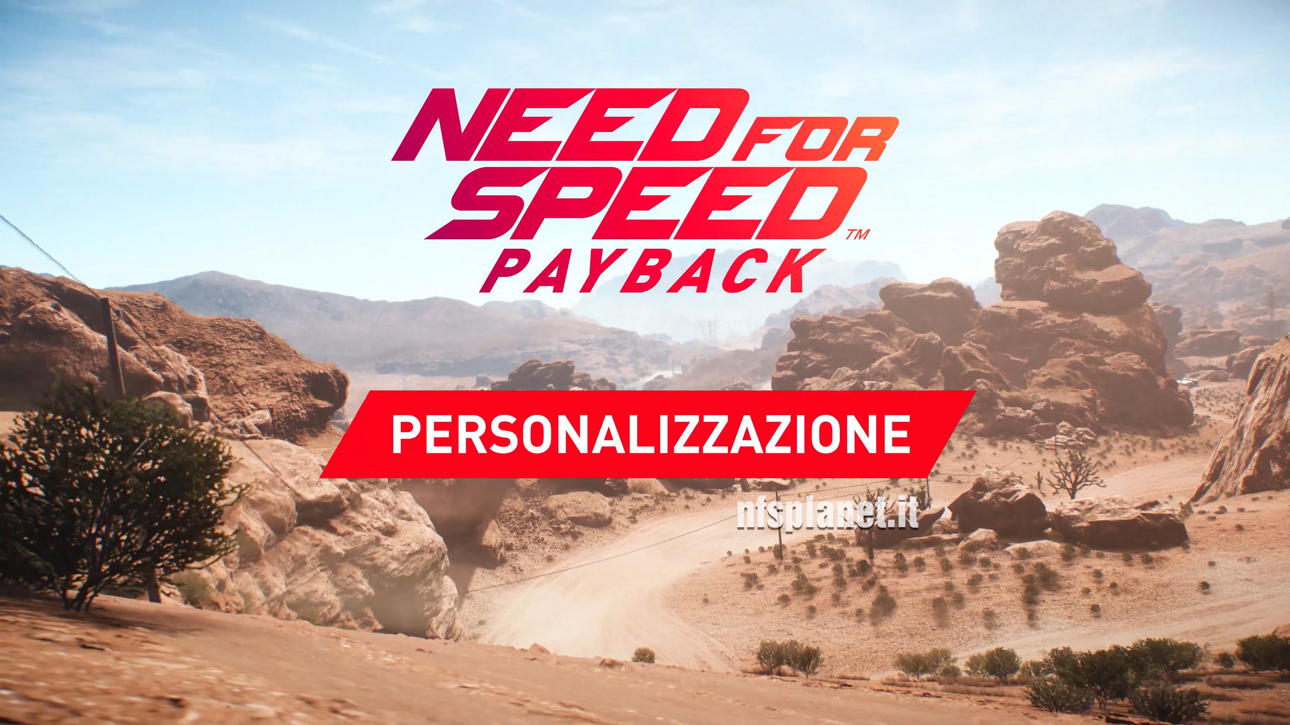 Need for Speed Payback - Personalizzazione